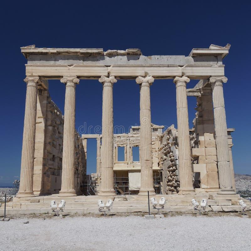 Erechtheions-Tempel, Akropolis von Athen lizenzfreie stockbilder