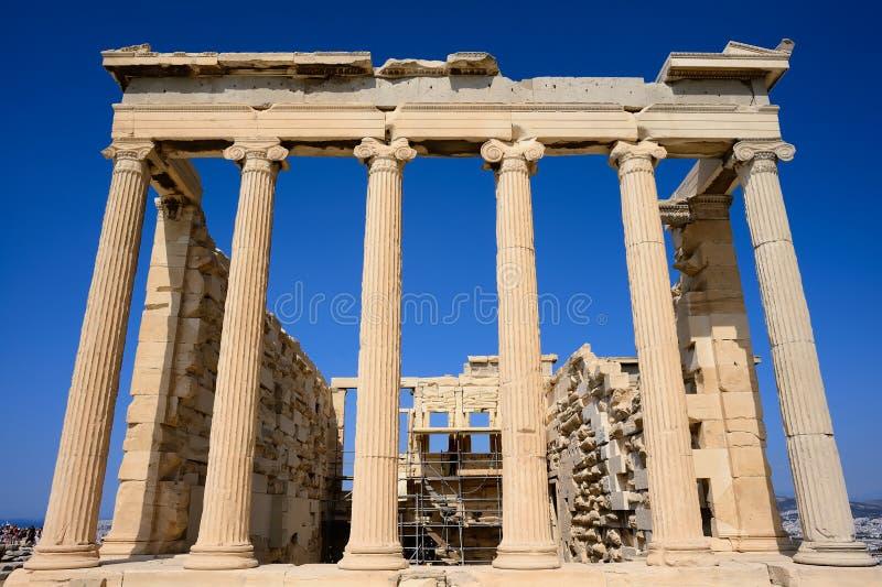 Erechtheum świątynia obrazy stock