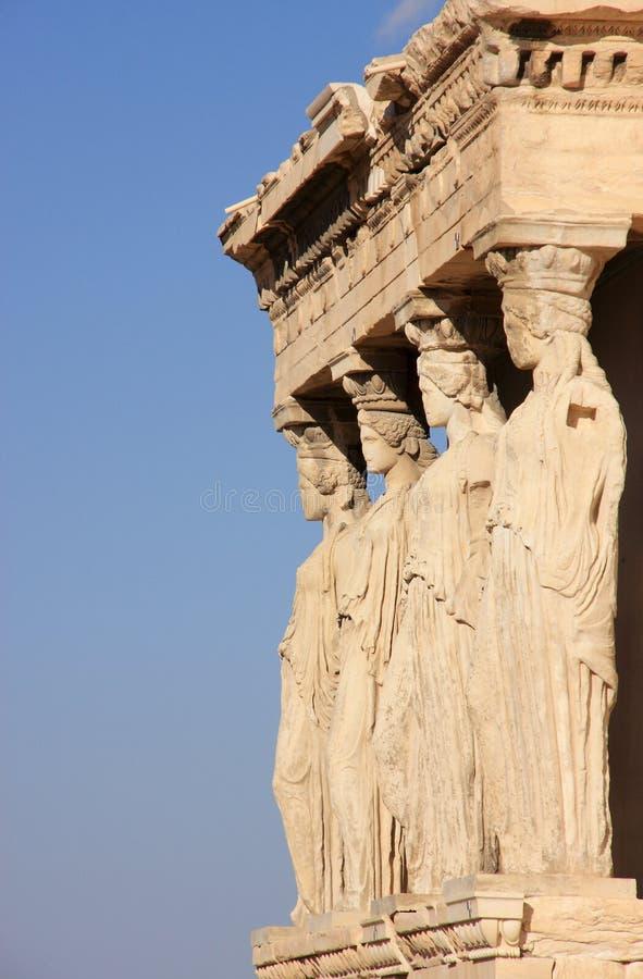 erechtheum της Αθήνας ακρόπολη στοκ εικόνες με δικαίωμα ελεύθερης χρήσης