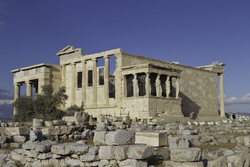 erechtheum Греция caryatids athens акрополя стоковые изображения rf