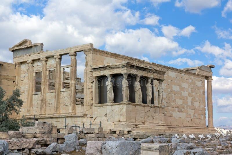 Erechtheum, acrópolis, Grecia fotografía de archivo libre de regalías