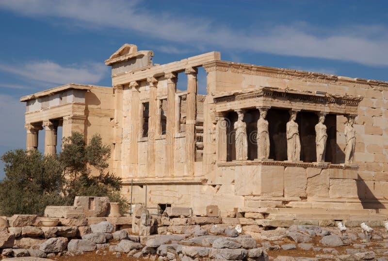 Erechtheum, Athene, Griekenland royalty-vrije stock foto