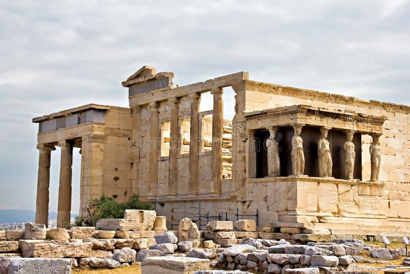 Erechtheum temple ruins at Acropolis. Athens, Greece stock photography