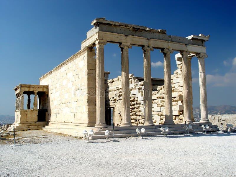 Erecthion, Akropolis royalty-vrije stock afbeelding