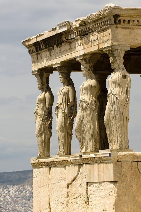 Erecthion Tempel lizenzfreie stockbilder