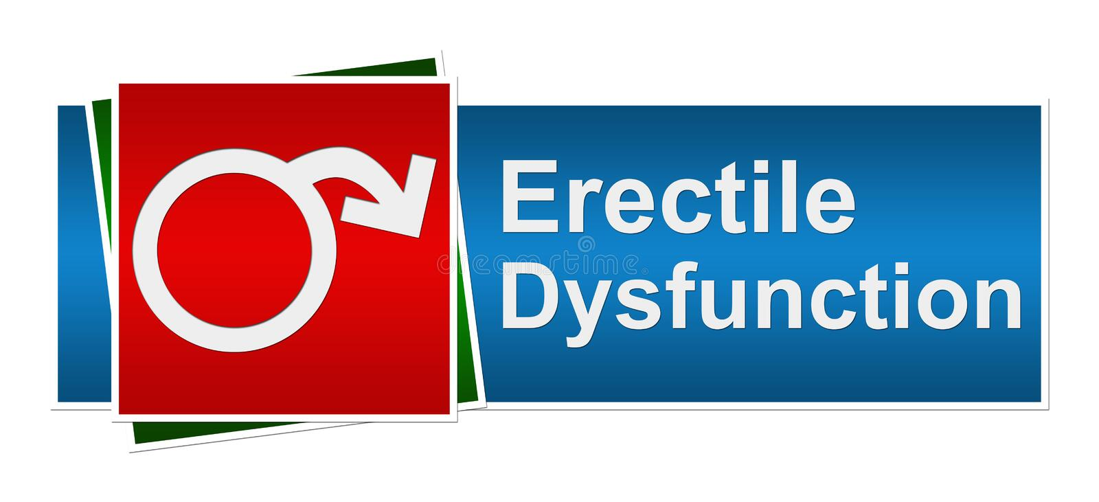 Download Erectile Dysfunction Blue Red Green Banner Royalty Free Stock Images - Image: 36943449