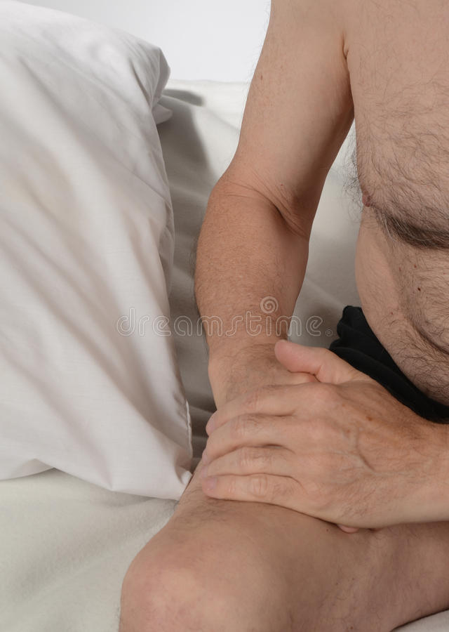 Erectile Dysfunction. Older man worrying about his erectile dysfunction royalty free stock photography