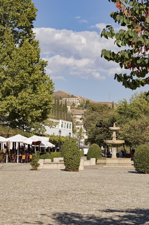 Eredità araba della città di Granada Albaicin Alhambra di umanità e della sua fotografie stock