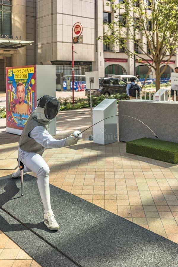 Ereignis 'ist die Änderung Tokyo 2020 'organisiert auf dem Thema der zukünftigen Olympischen Spiele in Tokyo im Jahre 2020 stockfoto