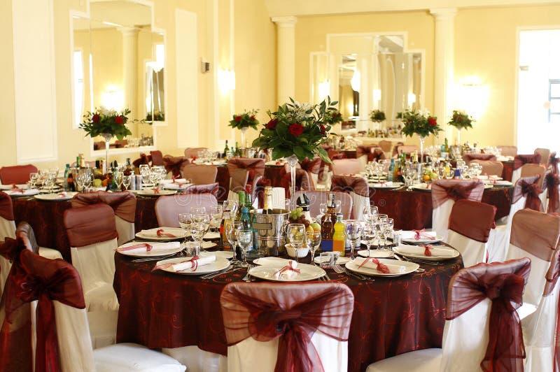 Ereignis-, Party- oder Hochzeitsballsaal lizenzfreies stockbild