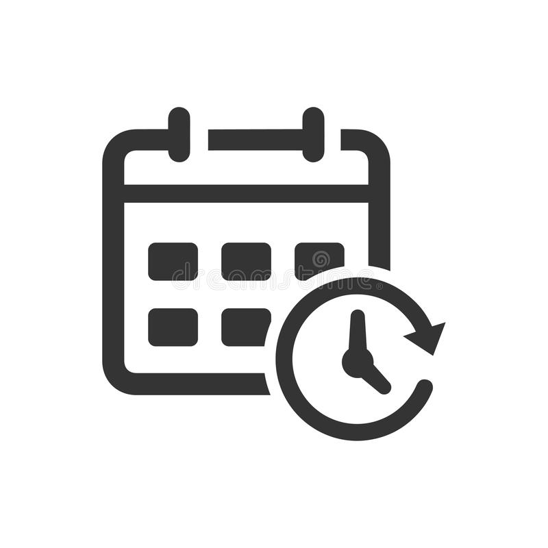 Ereignis-Zeitplan-Ikone stock abbildung