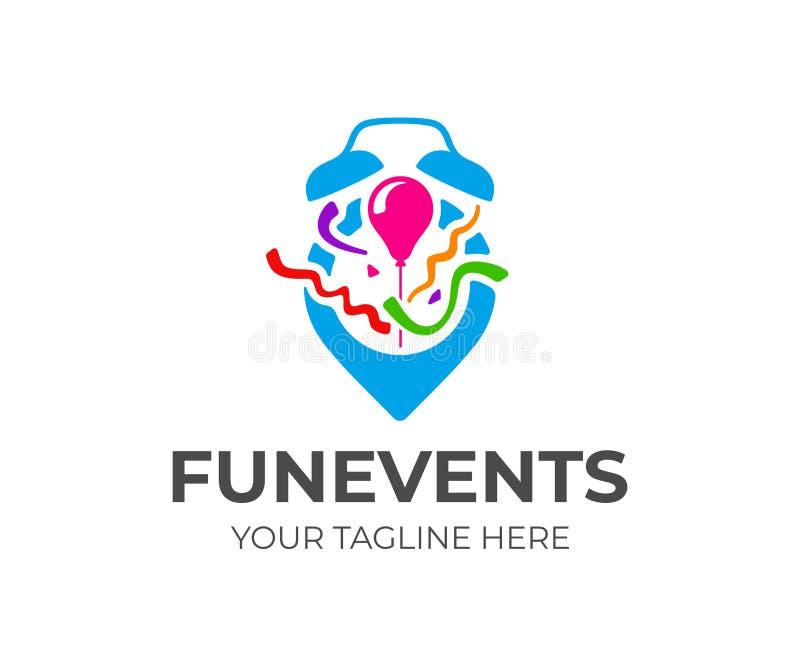 Ereignisplanungs-Logoentwurf Ereignisorganisationsagentur-Vektorentwurf lizenzfreie abbildung