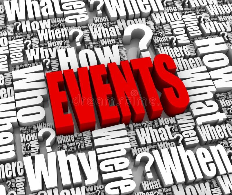 Ereignisse lizenzfreie abbildung