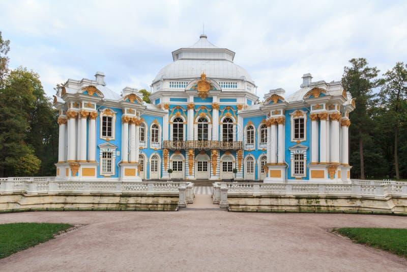 Eremitboning av Catherine Palace royaltyfria bilder