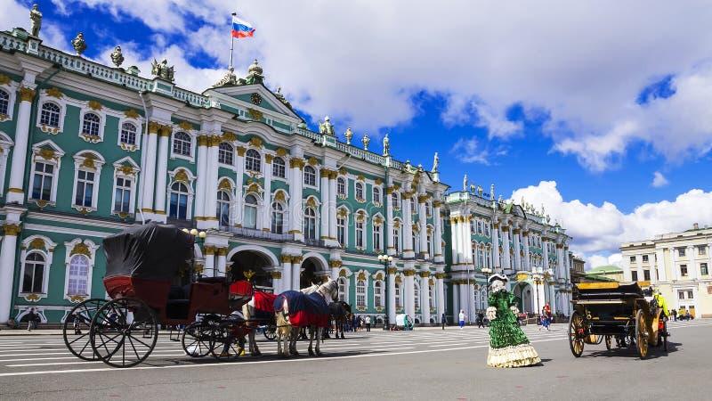 Eremitboning på slottfyrkanten, St Petersburg, Ryssland arkivbild