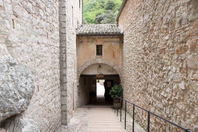 Eremo delle Carceri, Umbria, Włochy fotografia stock