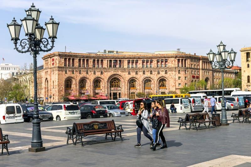 Erev?n c?ntrico, Armenia imagen de archivo libre de regalías