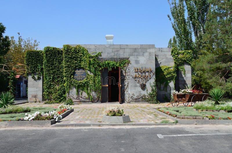 Erevan, Армения, 06,2014 -го сентябрь, ресторан в близко комплексе в памяти о жертвах армянского геноцида стоковые фото