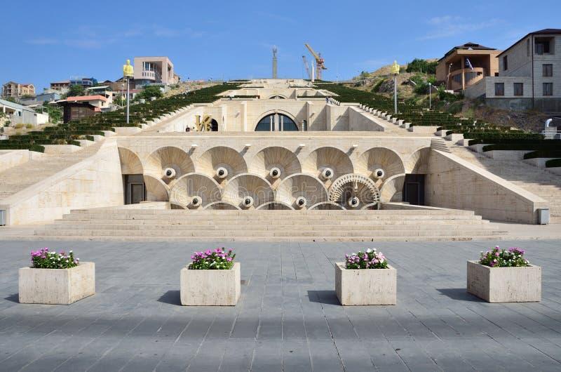 Erevan, Armênia, setembro, 06,2014, cena de Armênia: Ninguém, cascata em Yerevan fotografia de stock royalty free