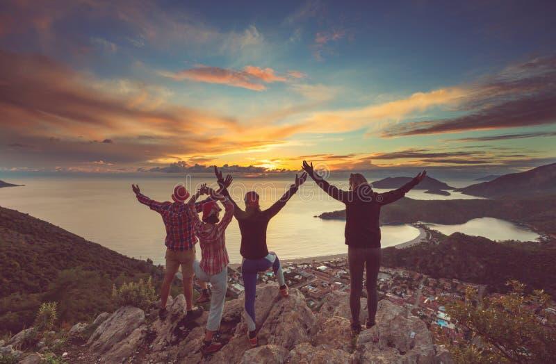 Erfüllter Wanderer lizenzfreie stockfotos