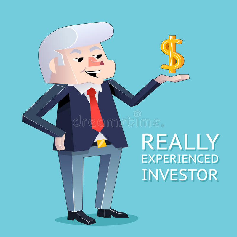 Erfahrener Investorgeschäftsmanncharakter stock abbildung