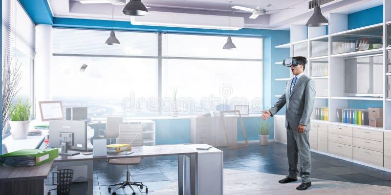 Erfahrung der virtuellen Realit?t Technologien der Zukunft stockbild