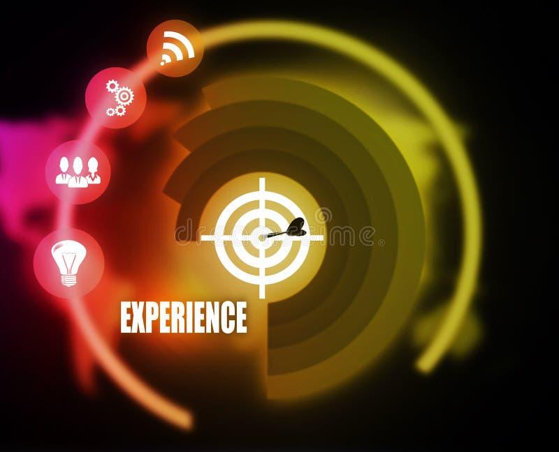 Erfahrungskonzeptplangraphik lizenzfreies stockbild