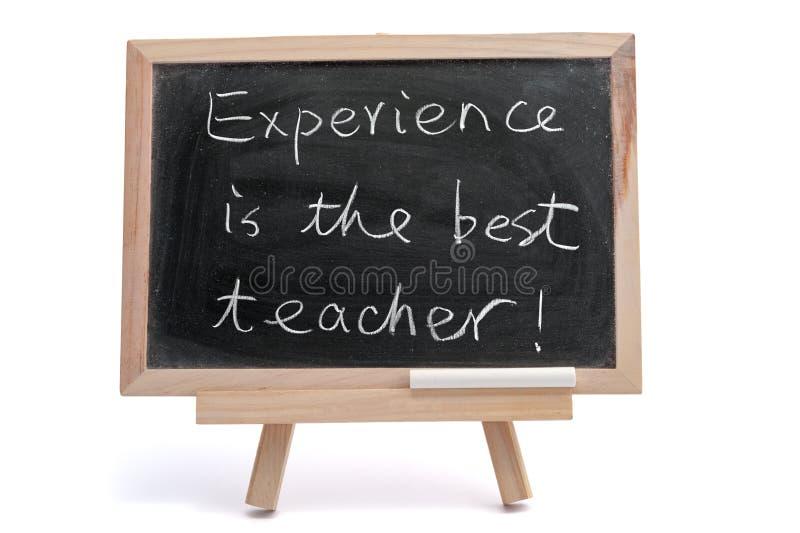 Erfarenhet är den mest bra läraren royaltyfria bilder