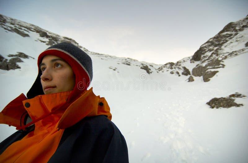 erfaret berg för klättrare royaltyfria bilder