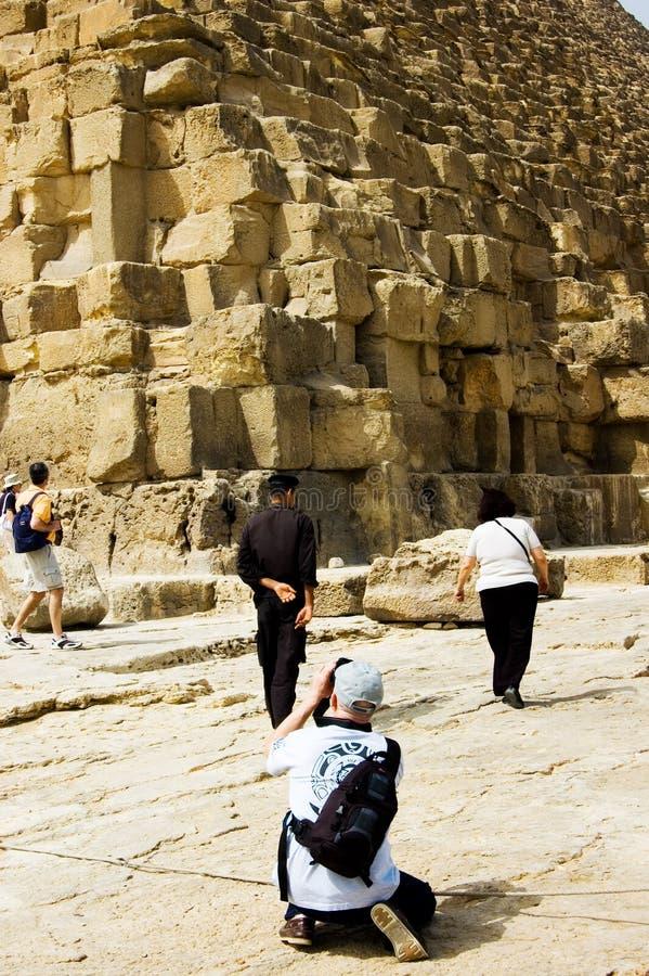 Erfassen der Pyramiden lizenzfreie stockfotos