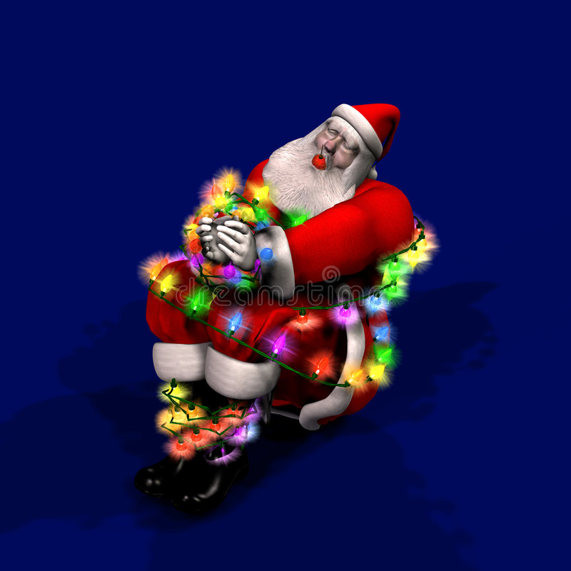 Erfassen Sie den Geist von Weihnachten lizenzfreie abbildung