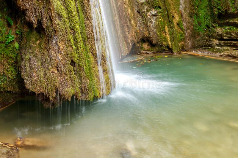 Erfelek Waterfalls at Turkey Sinop. Erfelek waterfall in Sinop,Turkey. Long Exposure and closer. Also popular destination for summer tourism royalty free stock images
