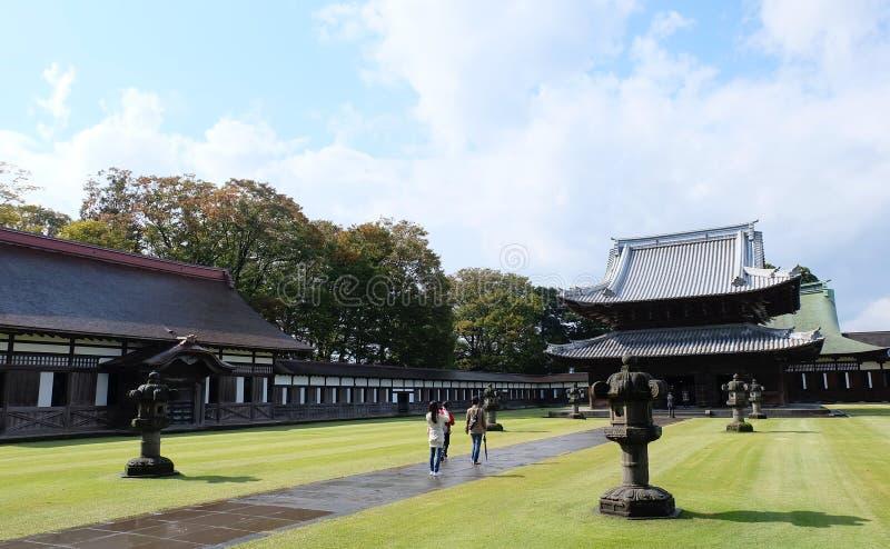 Erfenisarchitectuur van Zuiryuji-tempel in Takaoka royalty-vrije stock foto