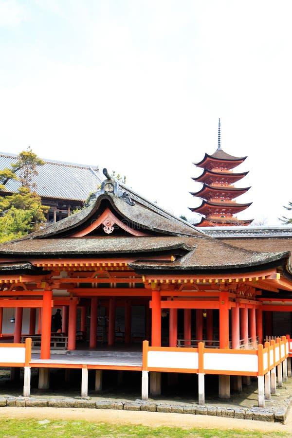 Erfenisheiligdom met pagode royalty-vrije stock afbeeldingen