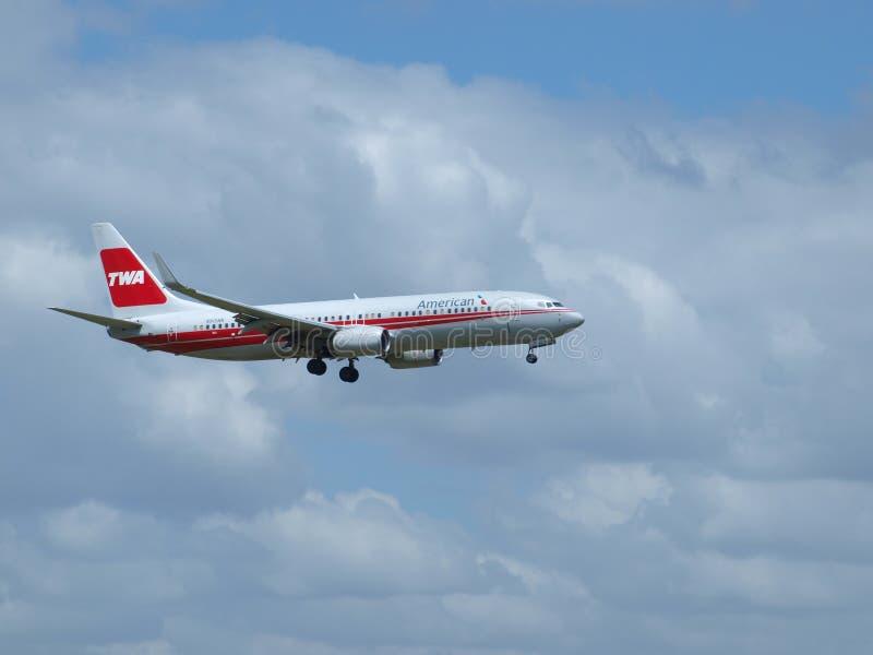 Erfenisvlucht van Oude TWA-Verfwerken royalty-vrije stock afbeelding