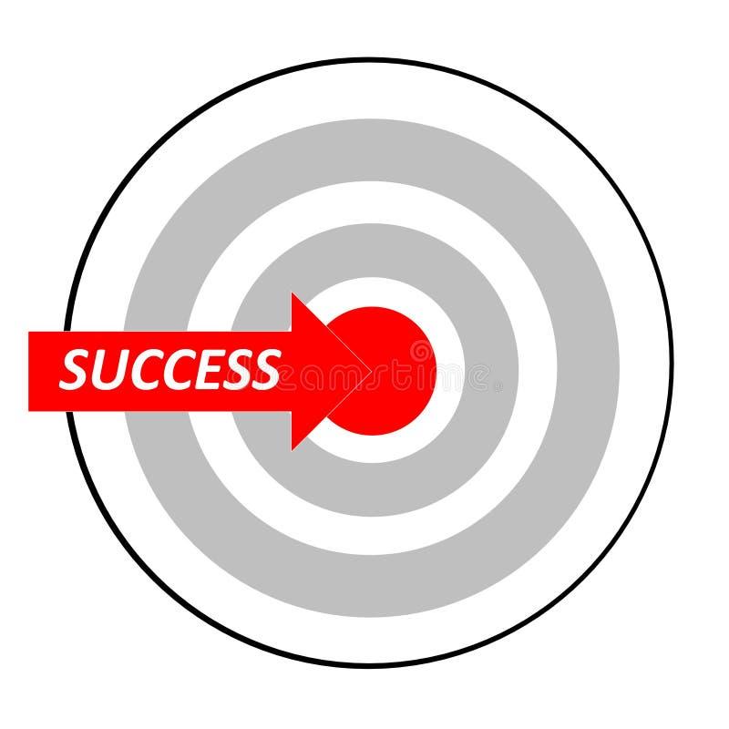 Erfolg als Ziel lizenzfreie abbildung