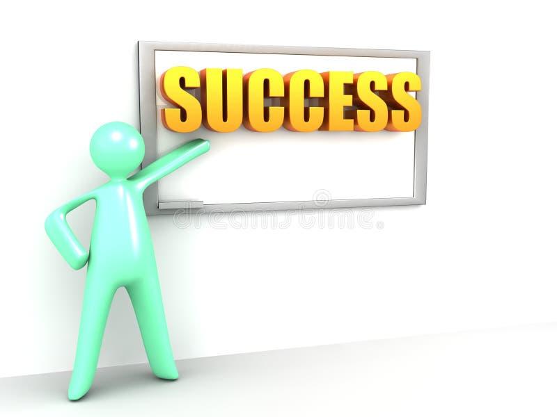 Download Erfolg auf dem Vorstand stock abbildung. Illustration von wort - 26372652