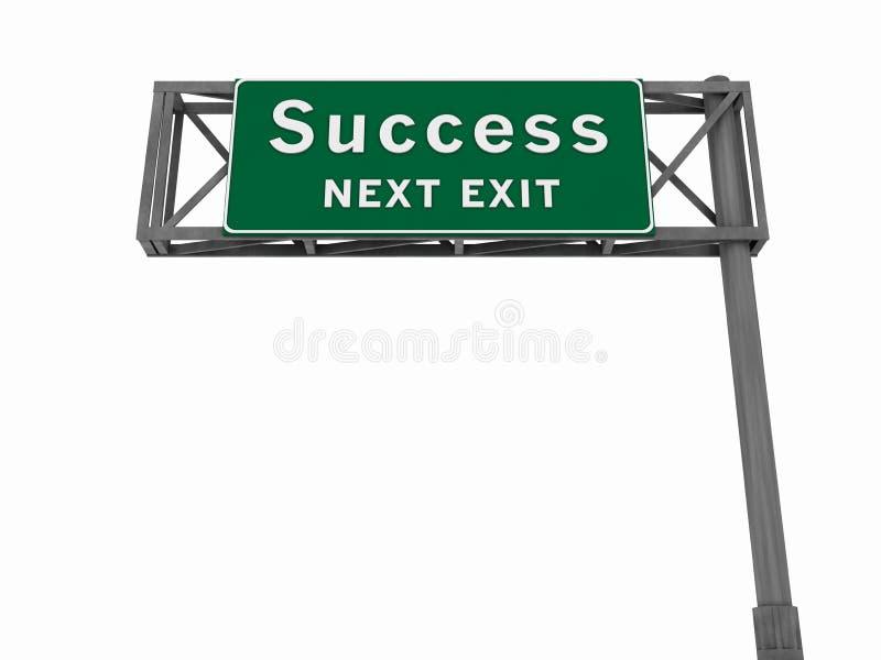 Erfolg - Autobahn-Zeichen lizenzfreie abbildung