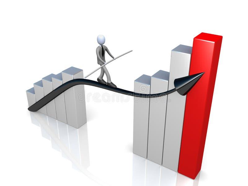 Erfolg im Geschäft stock abbildung
