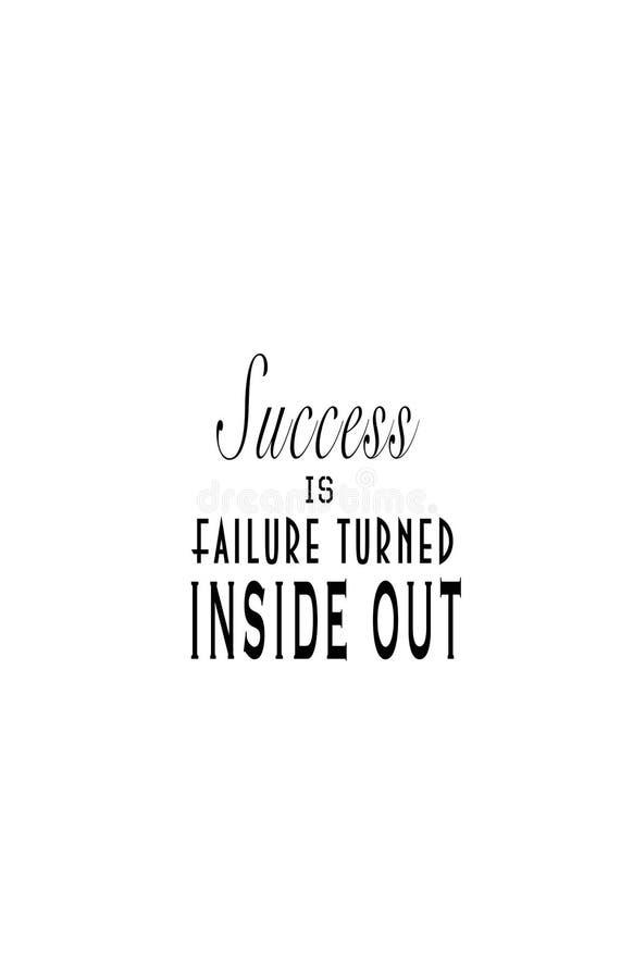 Erfolg ist der Ausfall, der innerhalb - heraus gedreht wird vektor abbildung