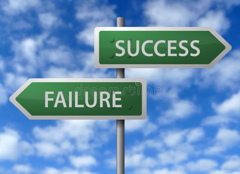 Erfolg oder Störung stock abbildung