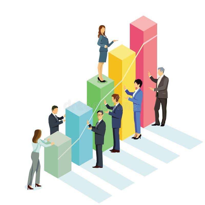Erfolgreich, steigen Â-Erfolgsaufstieg auf stock abbildung