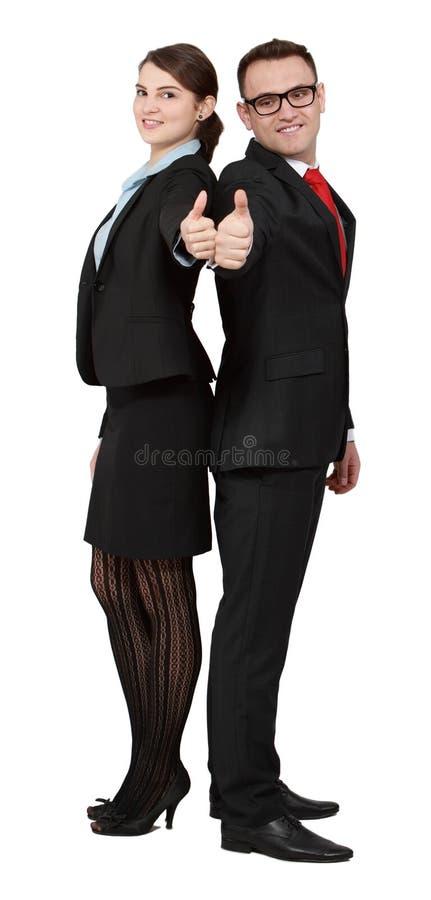 Erfolgreiche Geschäfts-Paare Lizenzfreies Stockfoto