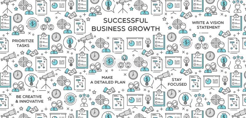 Erfolgreiche Geschäfts-Wachstums-Vektor-Illustration stock abbildung