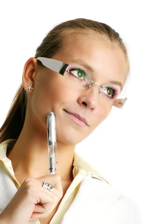 Erfolgreiche Geschäftsfrau lizenzfreie stockfotos