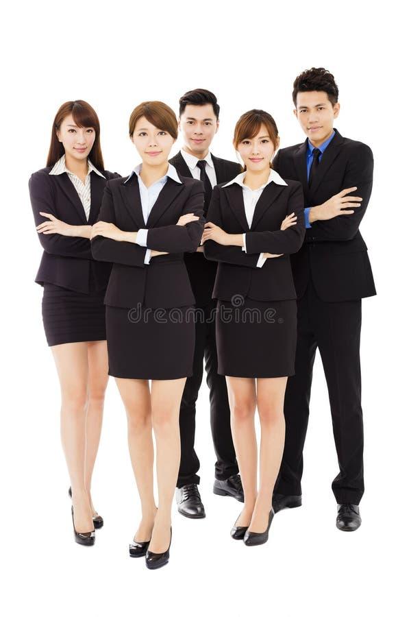 Erfolgreiche Geschäftsleute, die zusammen stehen stockbild