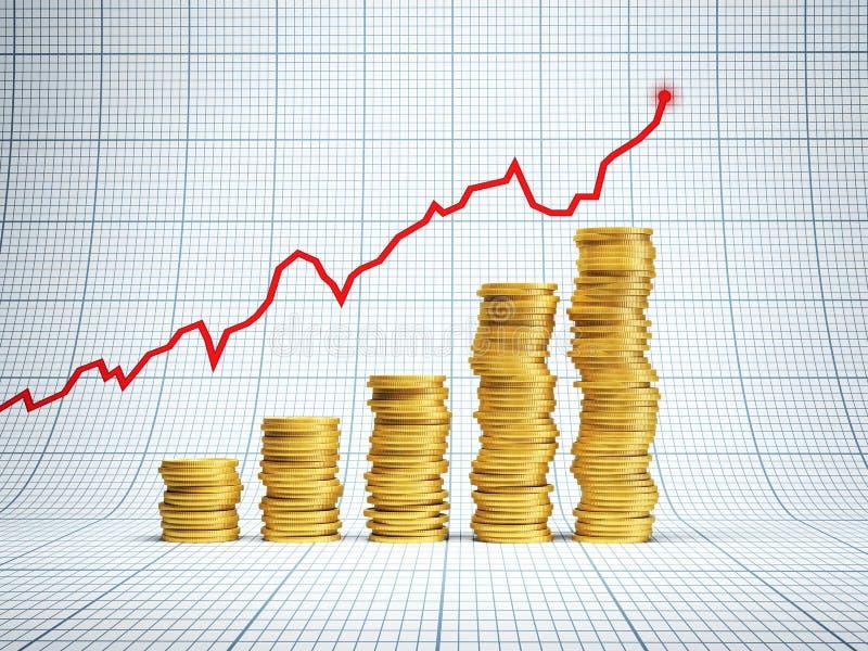 Erfolgreiche Investition stock abbildung