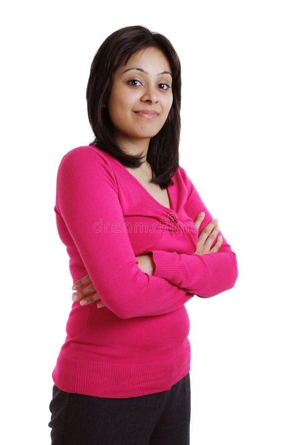 Erfolgreiche junge Frau lizenzfreie stockbilder