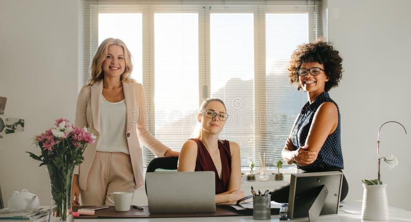 Erfolgreiche Startteilhaber im Büro stockfoto