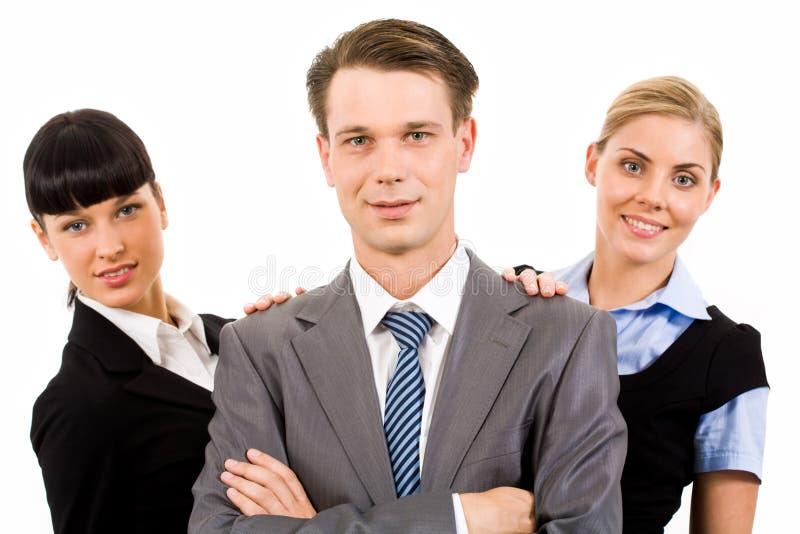 Erfolgreiche Teilnehmer stockfoto